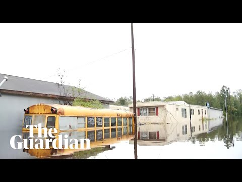 Jacksonville resident canoes through neighbourhood to show extent of flooding