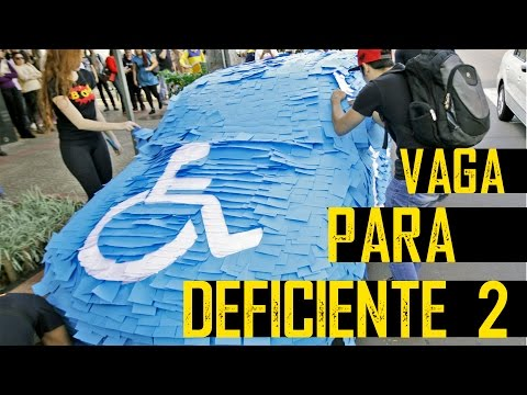 PEGADINHA: Vaga Para Deficiente 2 - Post It ( handicapped parking Prank)