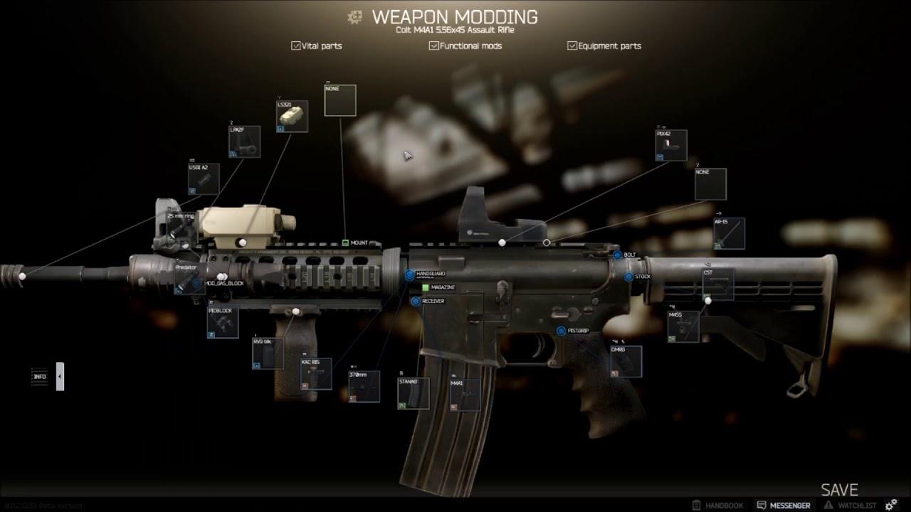 Ar M4 M4a1 Build Escape From Tarkov