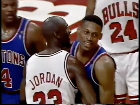 Dennis Rodman Defense on Michael Jordan - 1991 NBA ECF