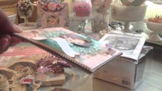 Michael's Haul, Card Share, Pretty Embellishments And New Chalk Painted Work Table