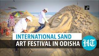 Watch: 9th International Sand Art Festival begins in Odisha amid Covid curbs