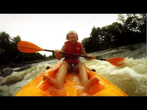 Sit-On-Top Kayaks in Whitewater Rapids = Dangerously Fun
