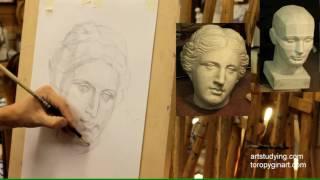 Афродита (3). Обучение рисунку. Портрет. 42 серия