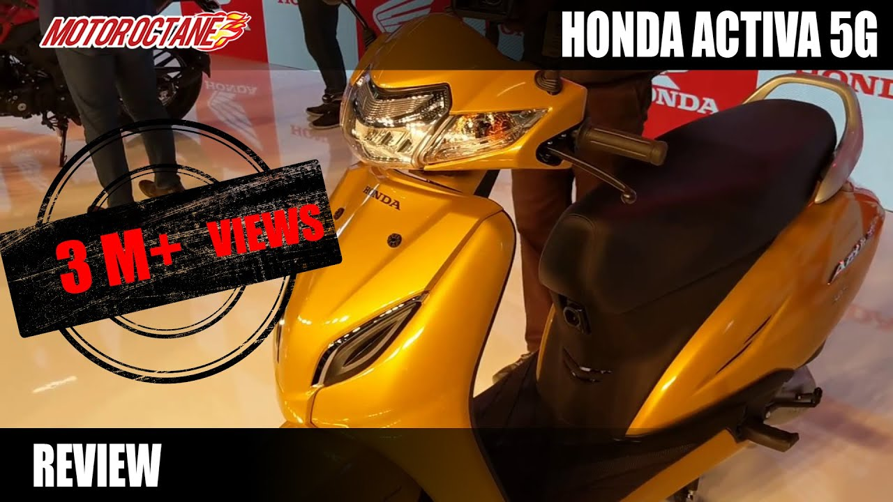 Honda Activa 5g Review In Hindi Auto Expo 2018 Motoroctane Youtube