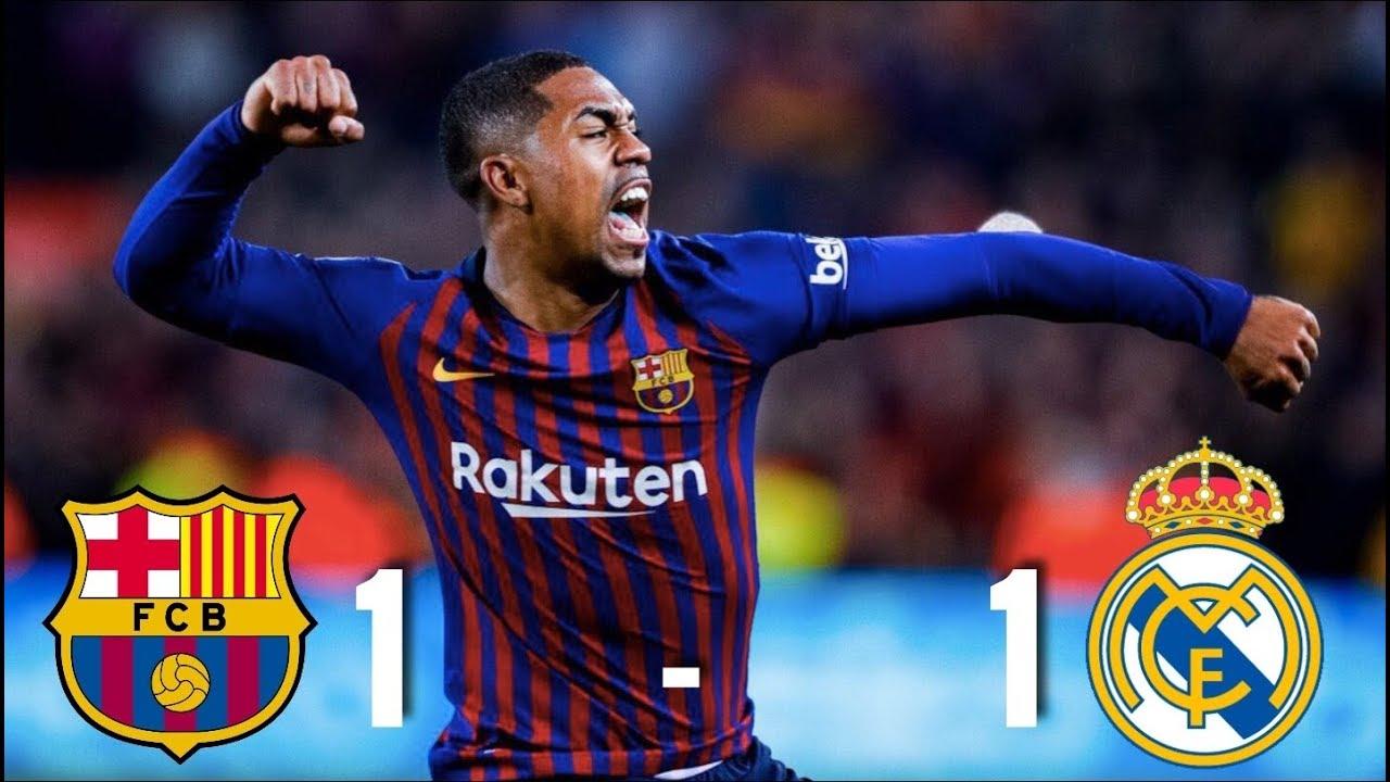 Barcelona Vs Real Madrid 1 1 Copa Del Rey 2019 Semi