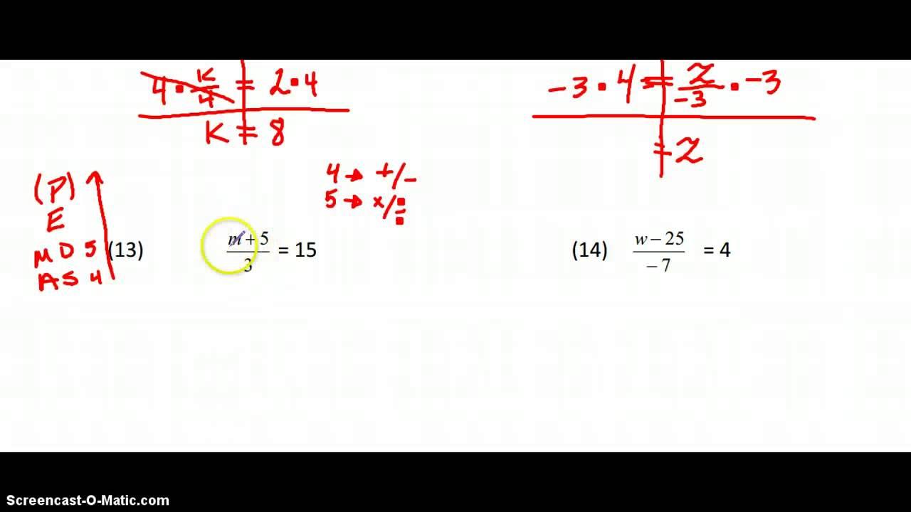 2 STEP EQUATIONS WORKSHEET 3 YouTube – 2 Step Equations Worksheet