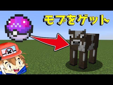 【マイクラ】モブをゲットできるマスターボール!?【ゆっくり実況】