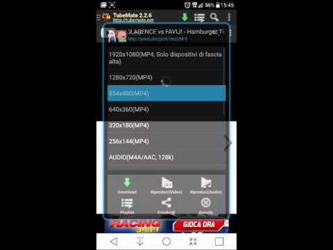 TubeMate - Best YouTube Downloader (ANDROID) ITA