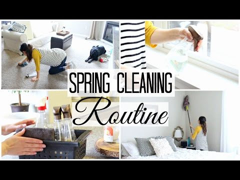 My Spring Cleaning Routine 2017! Working Mom Edition! ft. Christy at Home! | Justine Marie