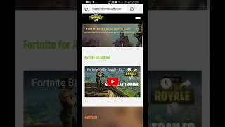 Download FORTNITE MOBILE (APK) on ANDROID 2018