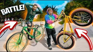 CHALLENGING LITTLE BROTHER IN A SKATE PARK ! | BRAAP VLOGS