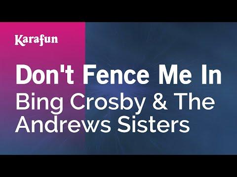 Karaoke Don't Fence Me In - Bing Crosby *