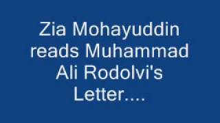Listen it once: You will love it, zia mohiuddin reads an extremely funny letter!!!