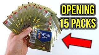 OPENING 15 PANINI 2018 WORLD CUP STICKER PACKS!