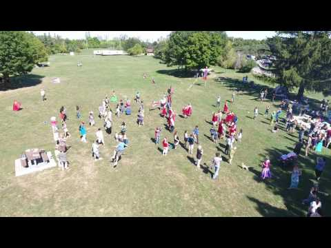 Калинка-Малинка Fleshmob Флешмоб в Торонто 4 сентября 2016 года. Вид с дрона