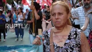 بالفيديو: تظاهرات في أمريكا اللاتينية للتنديد بالعنف ضد النساء