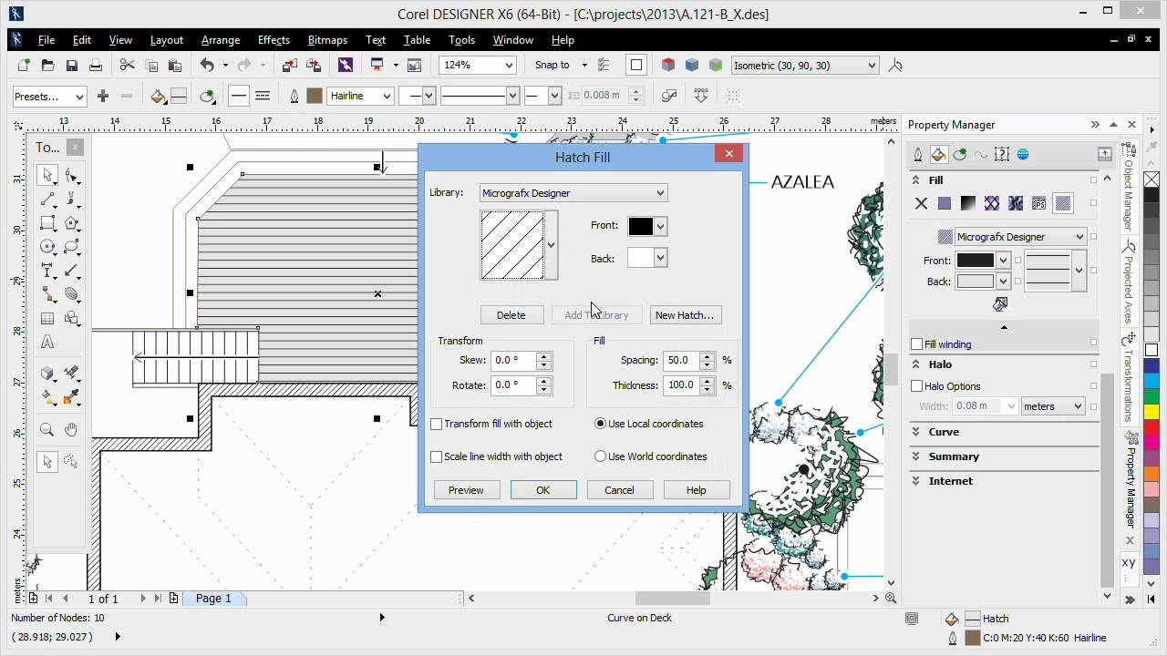 Vector Hatch Fill Tools In Corel Designer Youtube