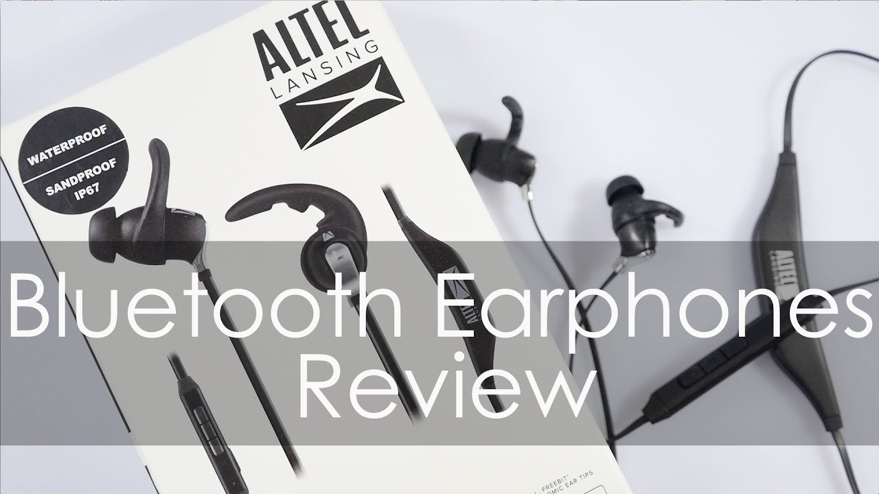 altec lansing bluetooth earphones mzw100 review [ 1280 x 720 Pixel ]