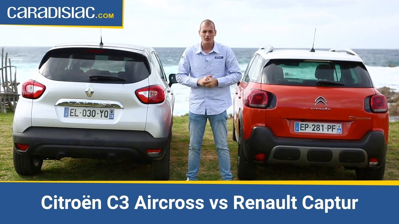 comparatif citro n c3 aircross vs renault captur duel franco fran ais youtube. Black Bedroom Furniture Sets. Home Design Ideas