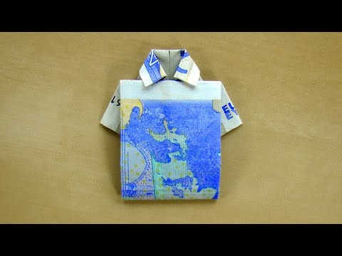 Geldscheine falten Hemd Geldgeschenke basteln  Geld