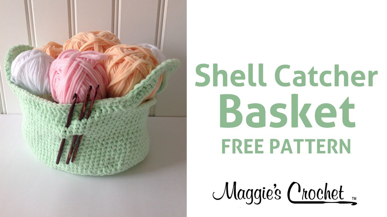 Shell catcher basket free crochet pattern with maggie weldon shell catcher basket free crochet pattern with maggie weldon right handed youtube bankloansurffo Image collections