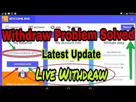 BTConline.io Withdraw Tricks | Btconline - Pending Solved ( 110% Working Solution ) Updated Oct-2018