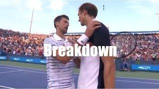 Daniil Medvedev vs. Novak Djokovic 2019 Cincinnati Semifinal | Breakdown