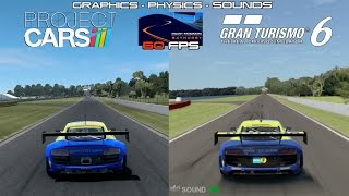 Project CARS Vs GT6 (60fps) Audi R8 Ultra @ Bathurst