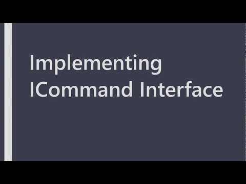 Implementing ICommand Interface