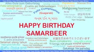 Samarbeer   Languages Idiomas - Happy Birthday