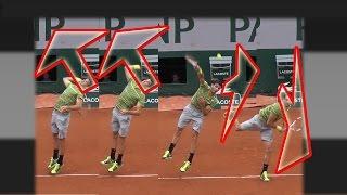 Большой теннис. Подача. Грегор Димитров.