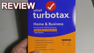 TURBOTAX Turbo Tax Home Business Tax Prep Software 2020 REVIEW