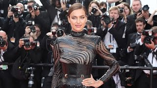 Irina Shayk Rocks Two See-Through Gowns Just 9 Weeks After Giving Birth
