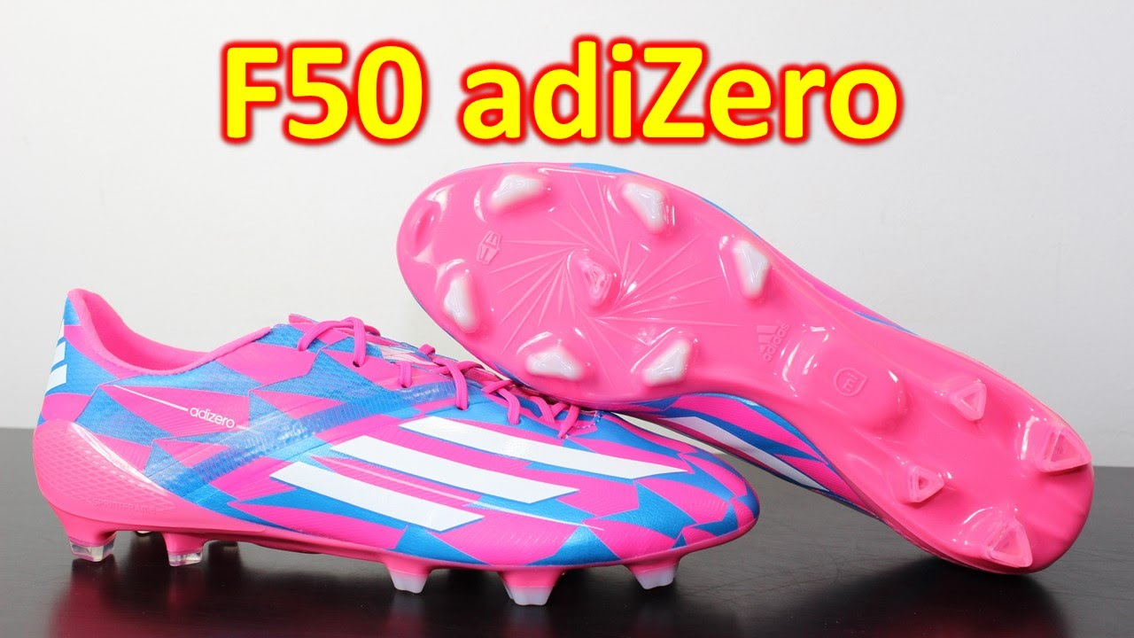 6906cd59d Adidas F50 adizero 2014 Neon Pink/Solar Blue - Unboxing + On Feet - YouTube