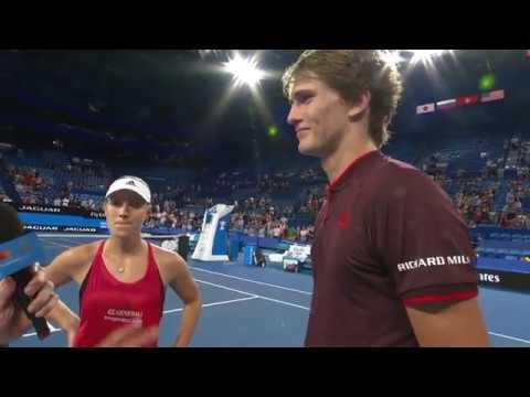 Angelique Kerber and Alexander Zverev on-court interview (RR) | Mastercard Hopman Cup 2018