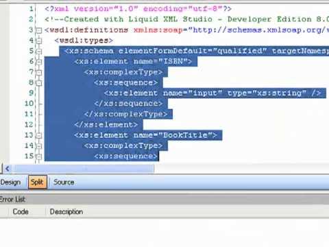 Liquid XML Studio 2010 - WSDL Editor Overview