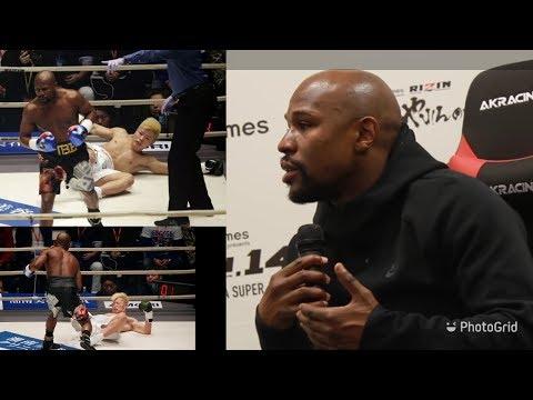 Floyd Mayweather vs Tenshin Nasukawa Post Fight Mayweather Interview Rizin 14