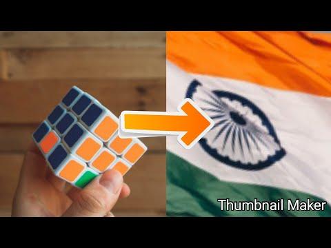 Indian tricolour on rubiks cube!!NO ALGORITHMS