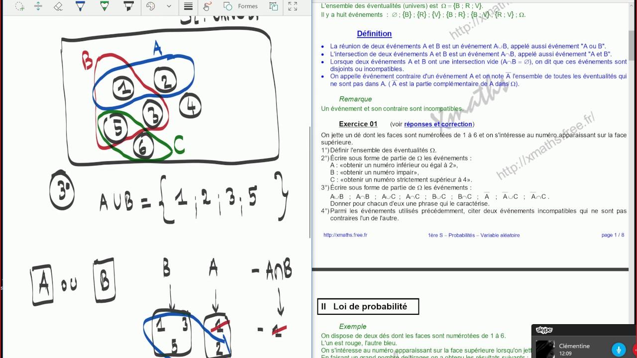 Probabilités - 1ère S - Exercices corrigés. - YouTube