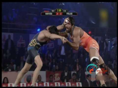 Pro Wrestling League 2015: Yogeshwar Dutt Vs Rajneesh-22nd Dec Haryana Hammers – CDR Punjab Royals