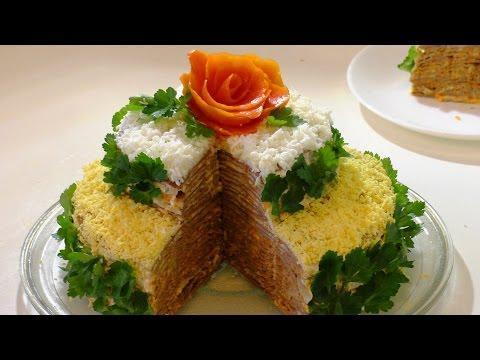 ПЕЧЕНОЧНЫЙ ТОРТ. как приготовить торт из печени. cake from the liver.