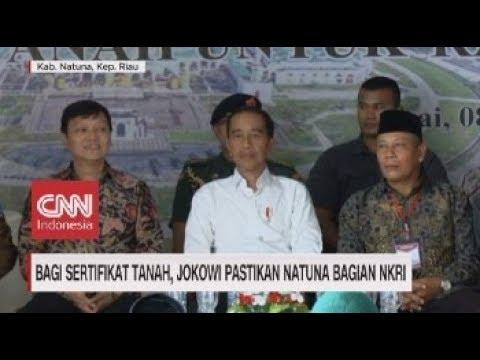 Bagi Sertifikat Tanah, Jokowi Pastikan Natuna Bagian NKRI