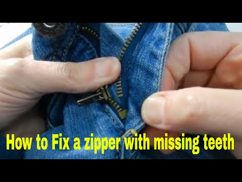 How to quickly fix a zipper with missing teeth