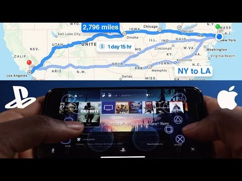 Play PS4 Games On IPhone - Away From Home (NY To LA) - PS4 Remote Play