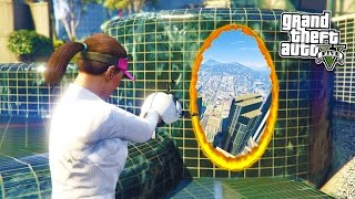 GTA 5 PC Mods - PORTAL MOD w/ PORTAL GUN! GTA 5 Portal Mod Gameplay! (GTA 5 Mod Gameplay)