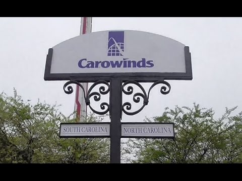 Carowinds Review Charlotte NC, Fort Mill SC Amusement Park HD 60fps