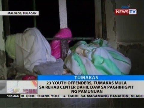 BT: 23 youth offenders, tumakas mula sa rehab center dahil daw sa paghihigpit sa pamunuan