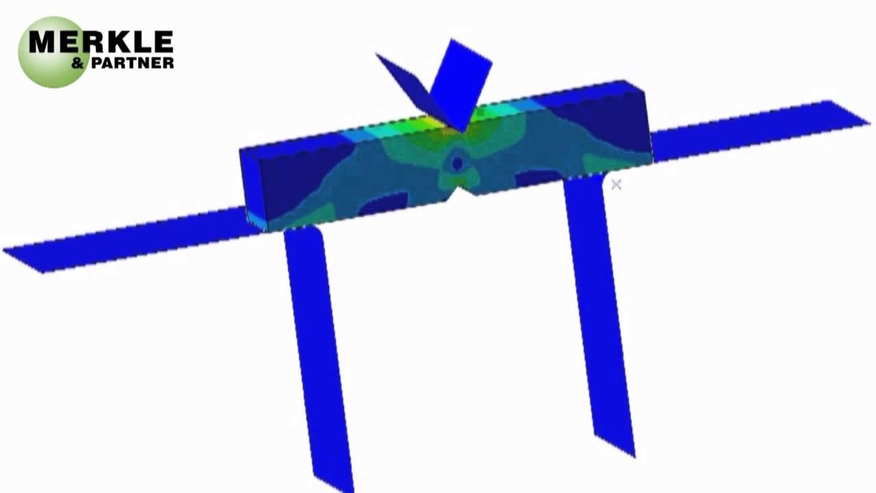 Fem berechnung simulation kerbschlagbiegeversuch youtube for Fem berechnung