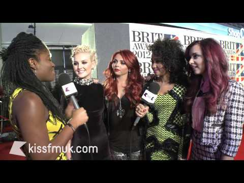 Little Mix at the 2012 BRIT Awards